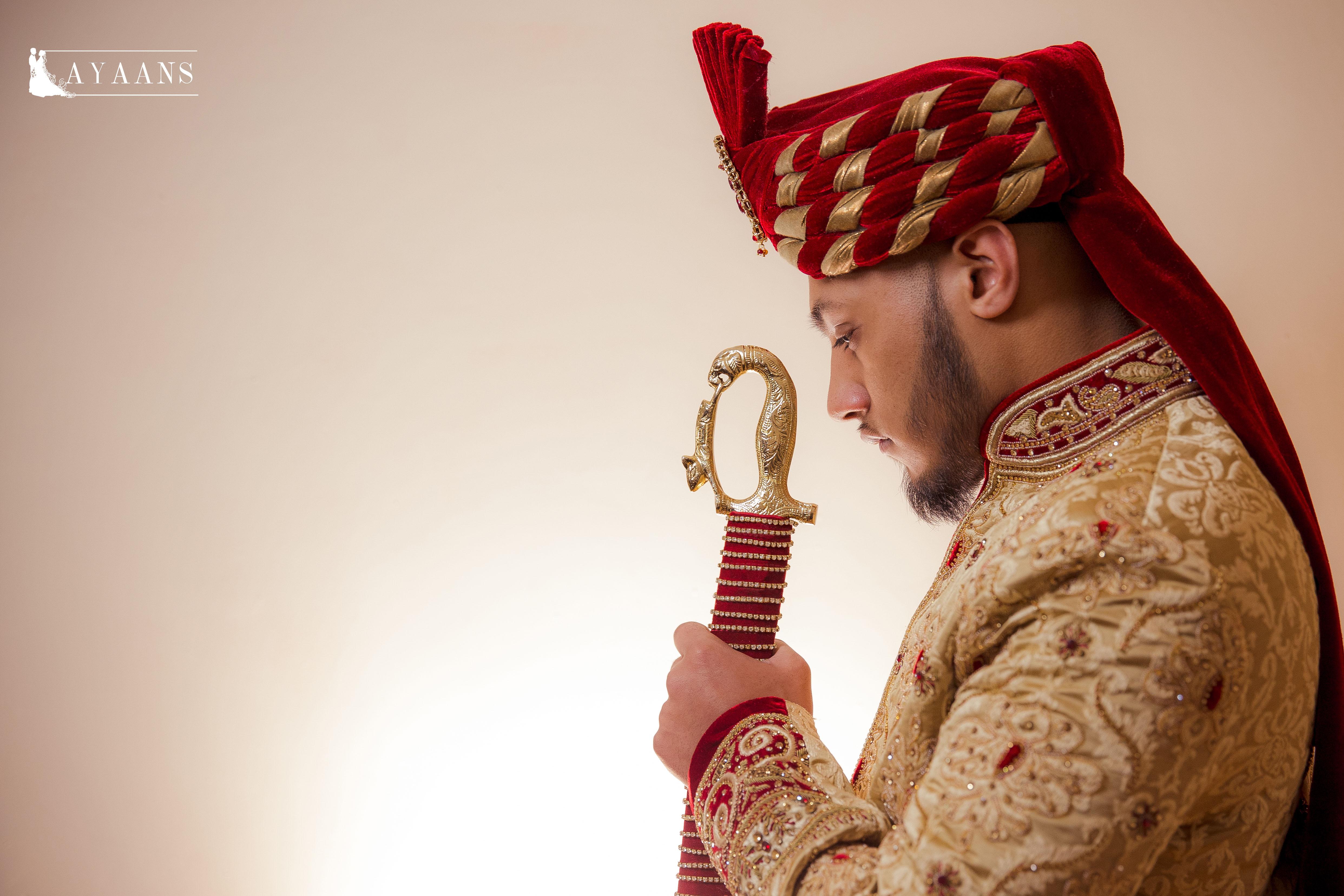 1. Asian Wedding Photography- Asian Groom Scotland