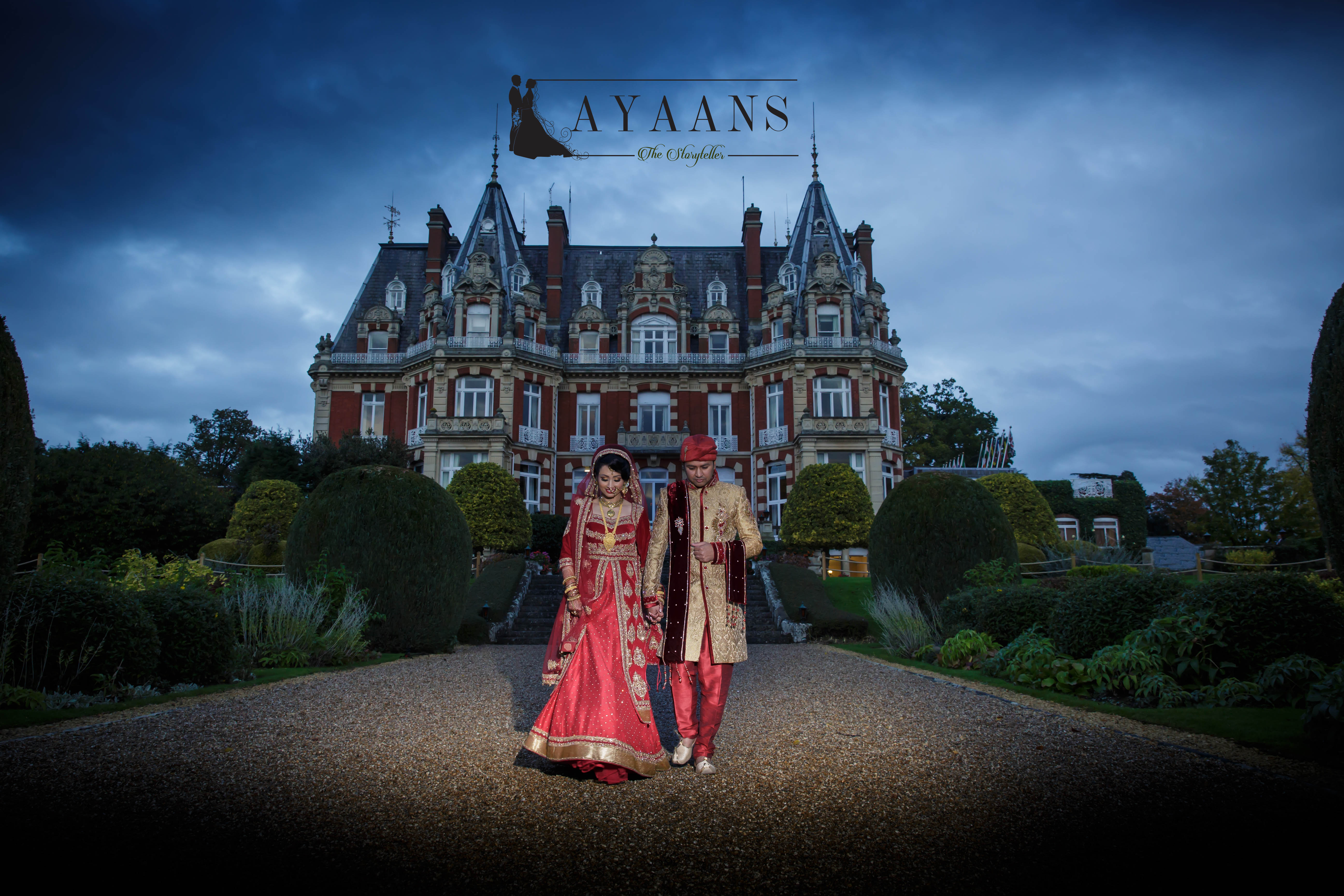 9. Asian Wedding Photography- The Chateau Manor House United Kingdom